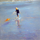 Dancing along the sea shore