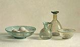 Stilleven met Romeins glas in tegenli…