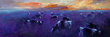 Koeien in avondlicht