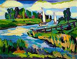 Sailboats in Landscape