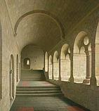 Kloostergang van de Abdij van Le Thor…