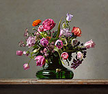 Flower still life with small tortoise…