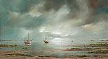 Ships at the mudflat