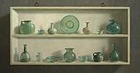 Roman glass in cupboard