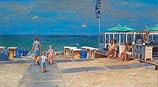 Beach entrance with beach pavilion
