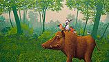 Boar in forest