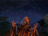 Abram onder de sterrenhemel