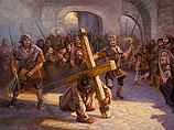 Jezus draagt het kruis