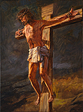 Jesus crucified on Golgotha