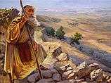 Mozes op de berg Nebo