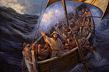 Jezus stilt de storm