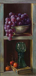 Chest with grapes
