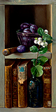 Chest with plums