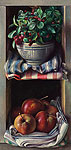 Kastje met sneeuwbes en appels
