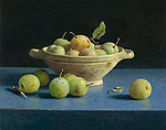 A dish of plums