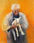Old man with lamb