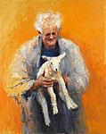 Oude man met lam