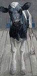 Black and white Holstein calf II