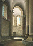 Kooromgang van de kerk in Conques, F