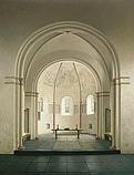 De absis van de romaanse kerk in Bozu…