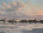 Sluis van Zoutkamp vanaf zee gezi…