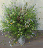 Wildflower bouquet, All Saints' Day