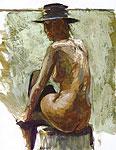 Rita met hoed