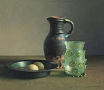 Stilleven met 15e eeuws drinkglas