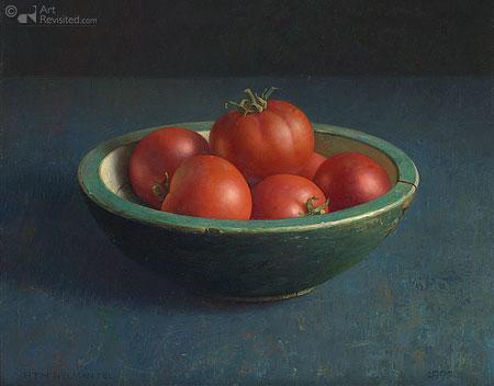 Tomaten in groene bak