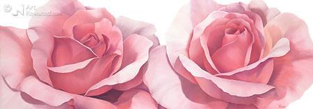 Twee rose rozen