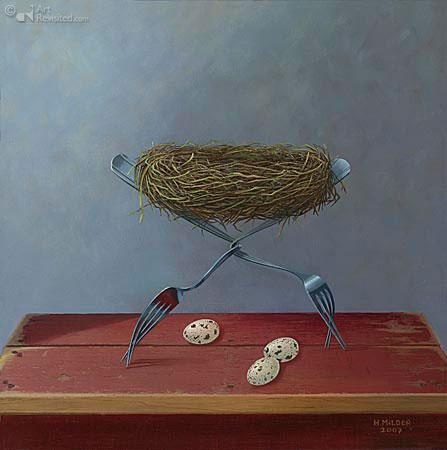 Disturbed nest