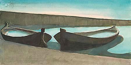 Baggerschuiten in de lagune van Venetië