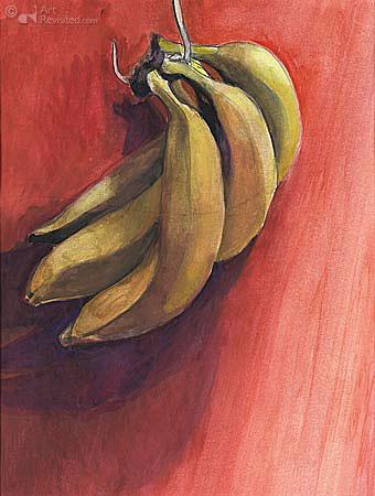 Bananen aan de haak