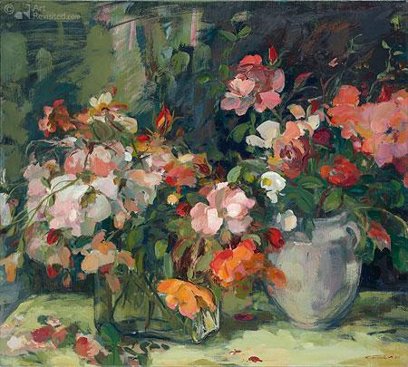 Roze bloemenstilleven