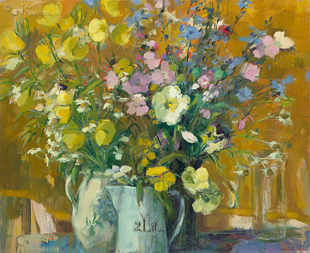 Geel bloemstilleven
