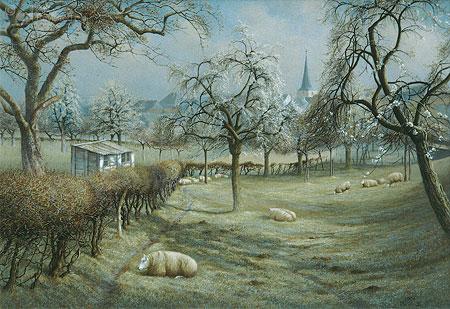 Weidelandschap met schapen