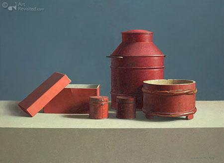 Compositie in Rood