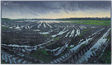 Verloren Akker no. 3, laarzen vastgezogen in de modder...