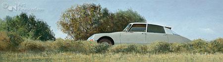 Op de oude Bildtzijldijk, Citroën ID 19b, 1967