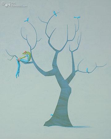 Blauwe vogels