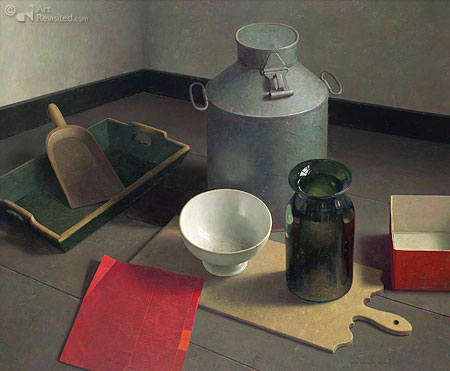 Still life with white bowl