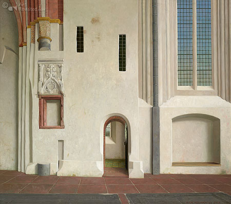 The north wall of the Nicolai Church in Appingedam