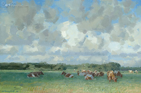 Clouds over cattle