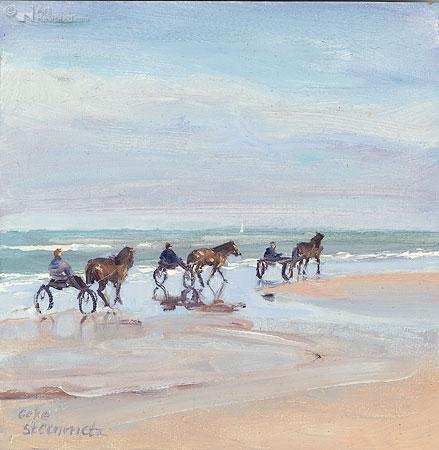 Paardenkarretjes aan zee 2