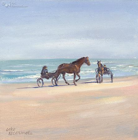 Paardenkarretjes aan zee 3