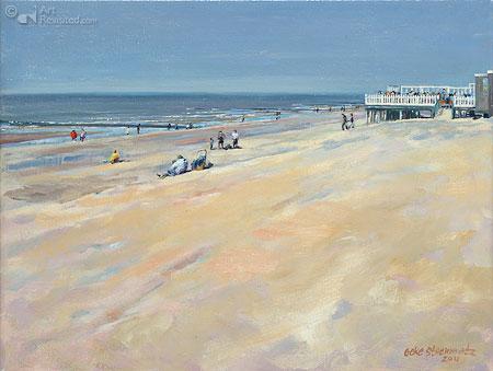 Strandtent aan zee
