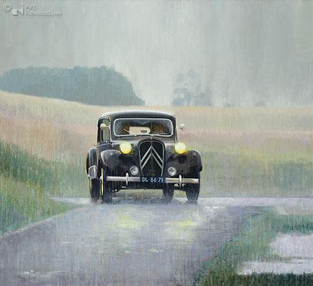 Traction in stortregen
