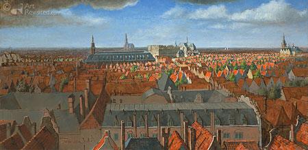 Panorama Amsterdam zomer 1656