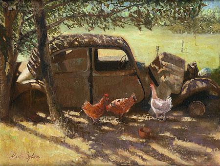 Citroën Traction Avant als kippenren in Frankrijk