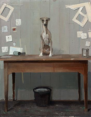 Hond op tafel